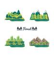 set of natural forest landscapes vector image