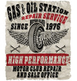 vintage gasoline retro signs and labels gas vector image