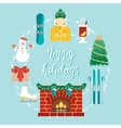Christmas concept with icons in the flat design vector image