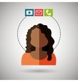 avatar email telephone camera vector image