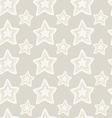 Seamless pattern of stars vector image vector image