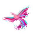 fiery phoenix in bright colors vector image