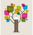 Colorful education tree with pencil and text space vector image