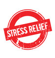 Stress relief rubber stamp vector image