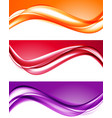 abstract light colorful backgrounds set vector image