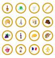 france cartoon icon circle vector image