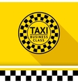 Taxi badge with shadow - 06 vector image