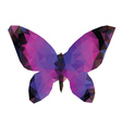 Polygonal Butterfly vector image