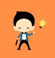 Business man get idea vector image