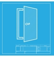 Door sign White section of icon on vector image vector image