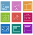 Business flat line icons set Web and mobile vector image
