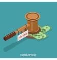 Corruption isometric flat concept vector image