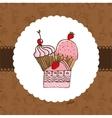 delicious dessert vector image