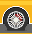 flat tire on car vector image