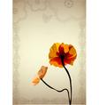 flower vintage vector image