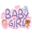 font design for words baby girl vector image