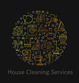 house cleaning card vector image