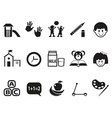 preschool icons set vector image