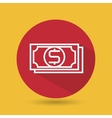 symbol of bills red isolated icon design vector image