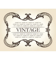 Vintage brown abstract frame ornament vector image