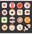 Japanese food sushi vector image