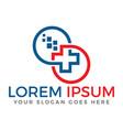 Health medical logo design vector image