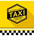 Taxi badge with shadow - 07 vector image