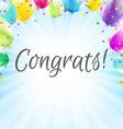 Congrats Card vector image vector image