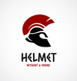 Helmet logo template Greek or Sparta style vector image