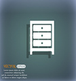 Cupboard icon sign On the blue-green abstract vector image