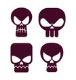 skull flat icon vector image vector image