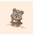 isolated Emoji character cartoon Bear surprised vector image