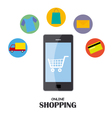business online shopping vector image