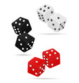casino dice stock vector image