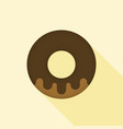 donut icon with long shadow vector image