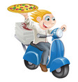 fast food pizza delivery vector image