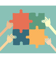 idea concept - People collect puzzle vector image