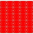 Polka dot and rhombus seamless pattern vector image
