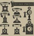 Vintage phone II vector image