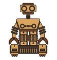 wooden-robot vector image