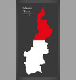Sulawesi barat indonesia map with indonesian vector image