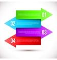 Modern business infographics arrow template vector image vector image