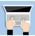clicks on the keyboard vector image vector image