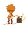 shaggy musician man vector image