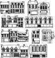 Town buildings vector image