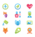 icon set different household objects vector image vector image