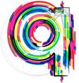 Colorful Font - Letter q vector image