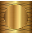 gold circle vector image