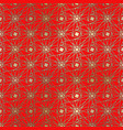 gold seamless pattern on a red background vector image