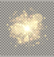 golden flash with bokeh and particles vector image